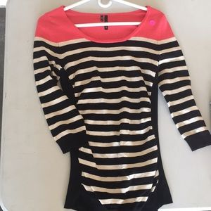 Pink, black, white sweater size S